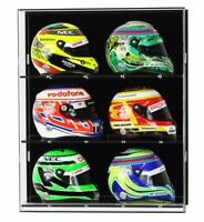 Acrylic Wall Display Case for Six 1:2 Scale Model F1/GP Helmets
