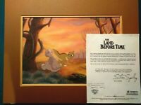 LITTLEFOOT & DUCKY, LAND BEFORE TIME BLUTH STUDIOS PRODUCTION BG SETUP, FRAMED