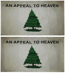 4X6 FT An Appeal To Heaven DOUBLE SIDED Wind Resistant Flag HEAVY DUTY