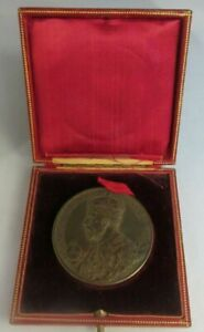 1911 KING GEORGE V CROWNED & QUEEN MARY JUNE 22 1911 BRONZE MEDAL BOXED