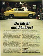 1975 Buick Opel Manta Yellow Dr. Jekyll Vtg Print Ad