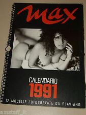 MARCO GLAVIANO=CALENDARIO MAX 1991=CALENDAR=FOTO=PHOTO=TOP MODEL PER UN ANNO=
