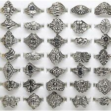 Be 10 Wholesale Lot Jewelry Mixed Style Tibet Silver Vintage Rings Hollow Design