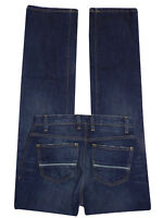 M&S Men's INDIGO Pure Cotton Straight Leg Denim Jeans