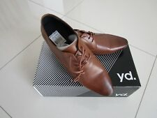 YD Men's Dude Genuine Leather Lace Up Tan Dress Shoe  Size US 11/UK 10