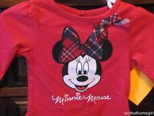 NWT/DISNEY MINNIE MOUSE Infant Girls 3 Mos/Bodysuit/RED/PLAID/Brand New/HOLIDAYS