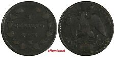 Mexico EMPIRE OF MAXIMILIAN Copper 1864 M 1 Centavo SCARCE KM# 384 (17 616)