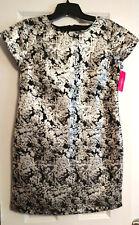 Dress Xhilaration Womens Size Small Black Silver Metallic Tunic Floral Tapestry