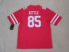 SF 49ERS #85 KITTLE Stitch Red Jersey Men L New SWEET^