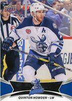 16/17 UPPER DECK AHL #29 QUINTON HOWDEN MANITOBA MOOSE *30950