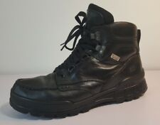 ECCO 'Track II High' Black Leather Boots Size US 9/ EUR 42