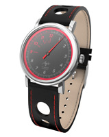Speed Auto Dial Watch Odometer Single RED Hand LUCH Black NEW Men's Mechanical