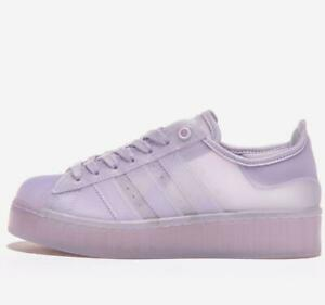 adidas Originals Womens Superstar Jelly Shoes Purple Trainers