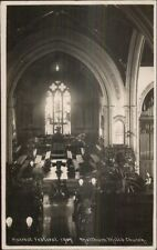 Harvest Festival 1907 - Meltham Mills Church c1910 Real Photo Postcard