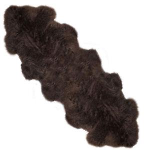 Lambland Large Dark Brown Super Soft Luxury Genuine Real Sheepskin Rug Hide Pelt