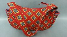 Vera Bradley Shoulder Bag Retired Villa Red Red Blue Yellow Green Handbag Purse