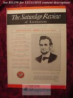 Saturday Review February 12 1938 BERTRAND RUSSELL ABRAHAM LINCOLN
