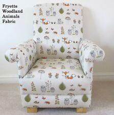 Fryetts Woodland Animals Fabric Kids Chair Fox Owl Child Nursery Bedroom Lounge
