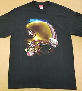 VINTAGE San Francisco 49ers T-Shirt NFL brand. Big helmet graphic.