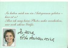 Autogramm - Elke Heidenreich