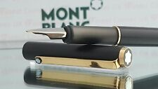 Mont Blanc Fountain Pen Noblesse Series Black Gold Functional Excellent Cond #55