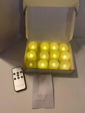 12 Celebration Light LED Tea Lights Candles Timer Remote Battery Included Ivory