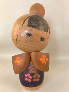 16m Japanese Kokeshi by Kazuo - Made in Japan - handmade wooden doll