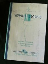 New ListingVintage 1930 Sewing Secrets J. & P. Coats & Clark`S Ont Booklet Sewing Book