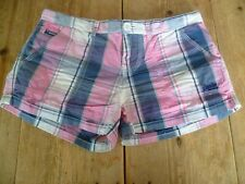 Fabulous SUPERDRY Pink & Blue Check Classic Summer SHORTS, XS ☀️