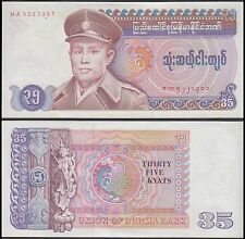 Burma 35 Kyats, 1986, P-63, UNC