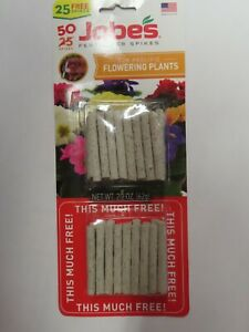 Fertilizer Spikes For Flowering Plants  Jobes # 05231T  50 Spikes  NEW