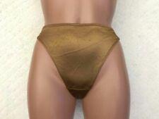 New listing #168 Vintage Medium Shiny Copper Brown Liquid Satin Second Skin Thong Panties