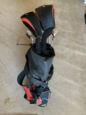 Great Deal! Red And Black Tour Lotic Golf Clubs And Bag