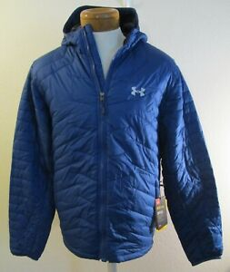 NWT Under Armour Mens ColdGear Reactor Hooded Jacket L Academy MSRP$225