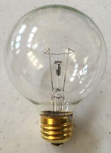[2 Pack] Permalite 100 Watt Incandescent G25 Medium Base Clear Globe Light Bulb