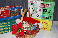 Vintage Christmas Treasures, Including Santa Lights - XM311