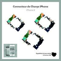 IPHONE 8 - NAPPE DOCK CONNECTEUR DE CHARGE + MICRO + ANTENNE GSM NOIR OR GRIS