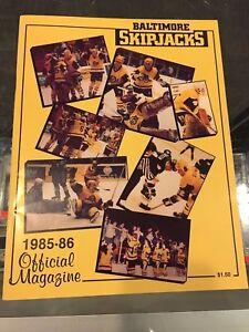 1985-86 BALTIMORE SKIPJACKS TEAM SIGNED MAGAZINE PRE ROOKIE MARIO LEMIEUX +19