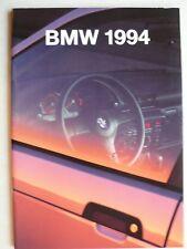 Prospekt BMW Programm 1994, 1.1994, 46 Seiten mit 850 CSI, M3, M5, M5 Touring