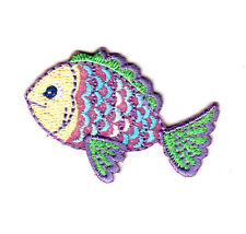 SET OF 2 - SEAFISH, MULTI-COLOR-Iron On Embroidered Patch/Sea Creature, Ocean