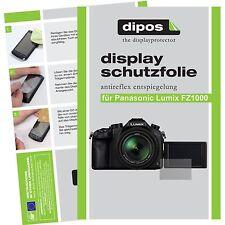 6x dipos Panasonic Lumix DMC FZ1000 Schutzfolie Displayschutzfolie Antireflex