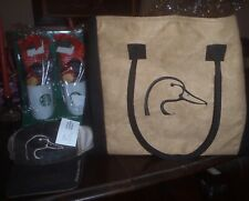 DUCKS UNLIMITED BROWN MESH CAP ADJUSTABLE EMBROIDERED + large TOTE NWT gift