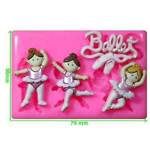 4 in 1 Ballet Dancers Mould by Fairie Blessings