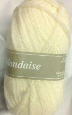 10 pelotes laine irlandaise couleur: écrue - fabriqué en France