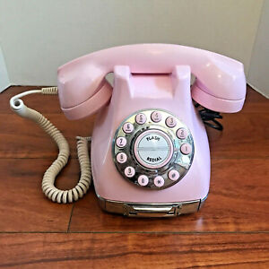 Vintage Mary Kay Pink Metro Telephone Phone Push Button Rotary Style Drawer Memo