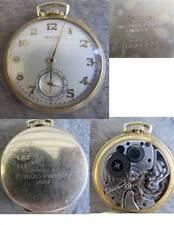 1937 Hamilton 21 jewel Frigidaire Presentation Pocket Watch - 14k gold filled