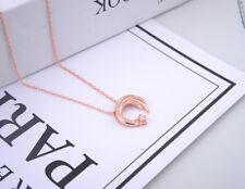 METEOR GARDEN MOON STAR PENDANT NECKLACE Rose Gold 925 Silver