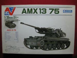 AMX 13 75 Light Tank 1:35 Heller Gunze Sangyo 1988 Vintage Plastic Kit Army Rare