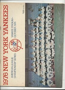 1976 A.L. Playoff Program (Kansas City vs. New York) near mint-mint (see scan)