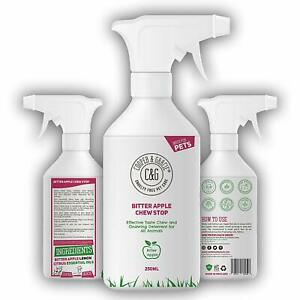 No Chew Bitter Apple Spray for Dogs Stop Chewing Deterrent Alcohol Free 250ML